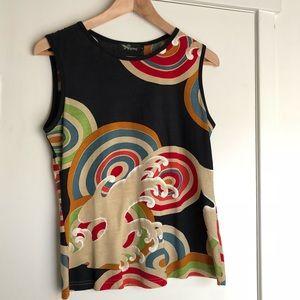 Beautiful colorful top. Made in Japan. Runs small